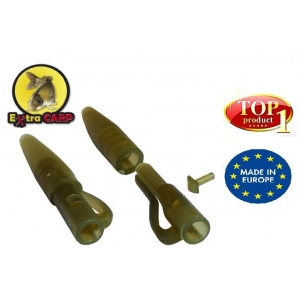 Lead clip with Tail Rubber Extra Carp - 10ks - 3830
