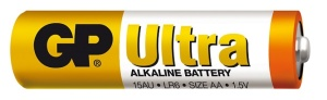 Alkalická baterie GP Ultra LR6 (AA), 1 ks