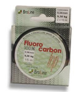 Broline 100% Fluorocarbon 0,17 mm 2,95 kg 2 x 25 m