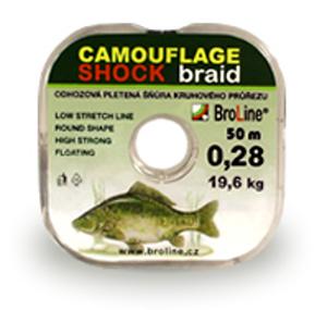 Broline CAMOUFLAGE SHOCK 50 m 0,28 mm 19,6 kg