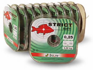 Vlasec Broline STRICT soft 100 m 0,16 mm 2,3 kg 100 m