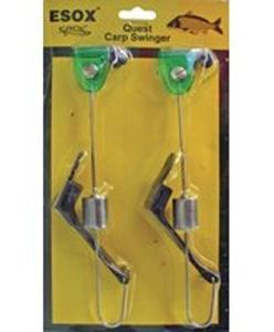 ESOX Quest Carp swinger - barva: zelená 2ks