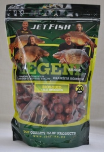 Jet Fish Boilies LEGEND - 20mm - 1kg - Klub Red +  A.C. Švestka/Scopex
