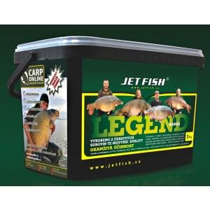 Jet Fish Boilies LEGEND - 20mm - 3kg Seafood + švestka / česnek