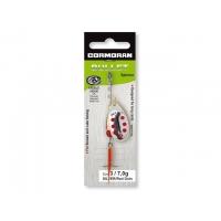 Třpytka Cormoran Bullet silver/red dots č.1 3g