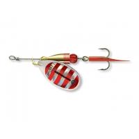 Třpytka Cormoran Bullet silver/red stripes