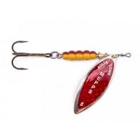 Třpytka Mepps Aglia Long Stříbrná - červená perleť
