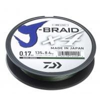 Daiwa Pletená šňůra J-Braid 4 - tmavě zelená 270m