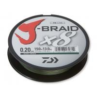 DAIWA ŠŇŮRA J-BRAID X8 DARK GREEN 150m