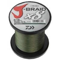 DAIWA ŠŇŮRA J-BRAID X8 DARK GREEN 1m