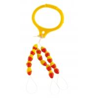 Cormoran silikonový stoper žluto/červený